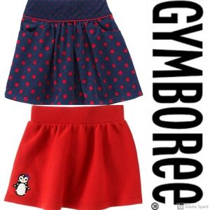 Gymboree Skirt Girls Size 12 Clothes Lot Red Navy